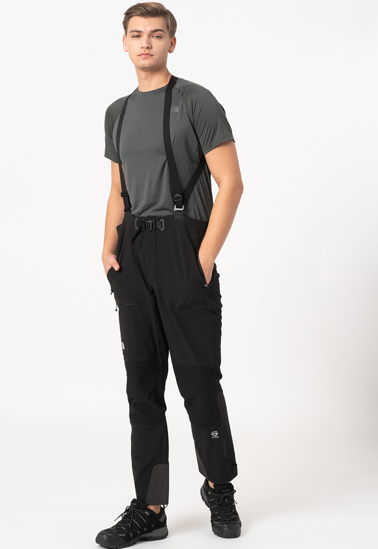 Pantaloni cu bretele - pentru drumetii Summit L4 Softshell imagine