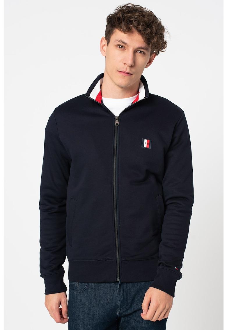 Bluza sport cu fermoar si logo brodat Global Stripe imagine