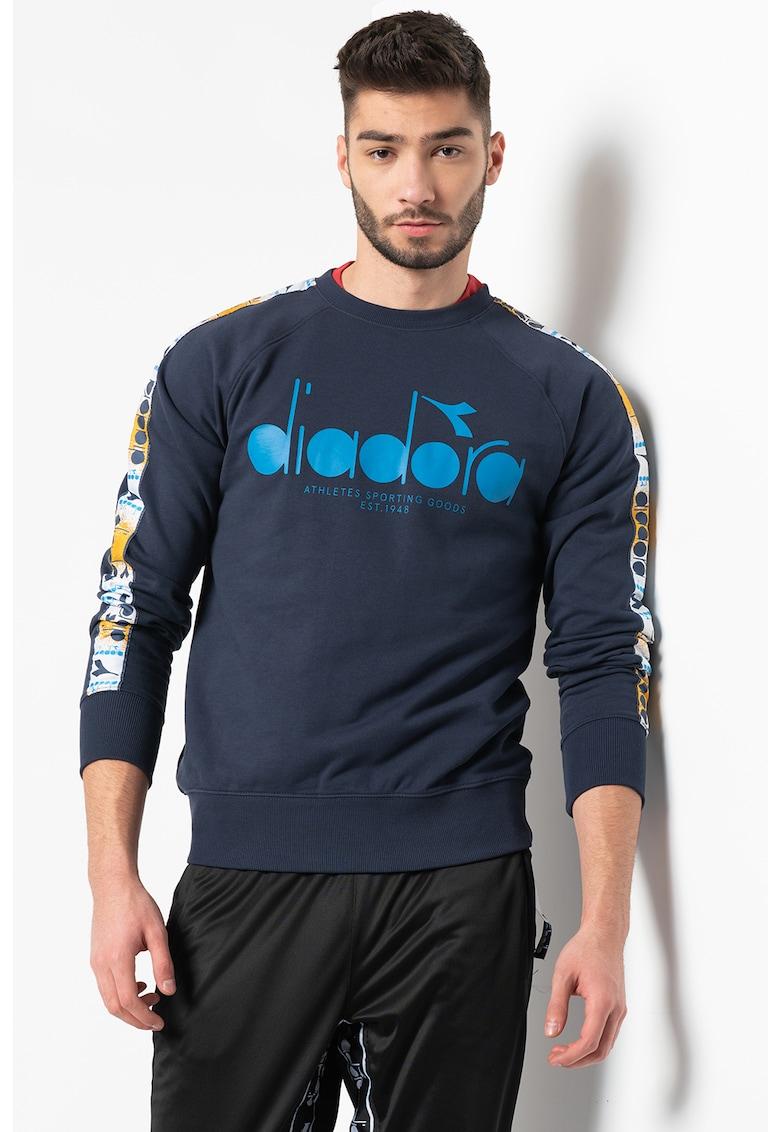 Bluza sport cu decolteu la baza gatului si logo 5Palle Offside imagine