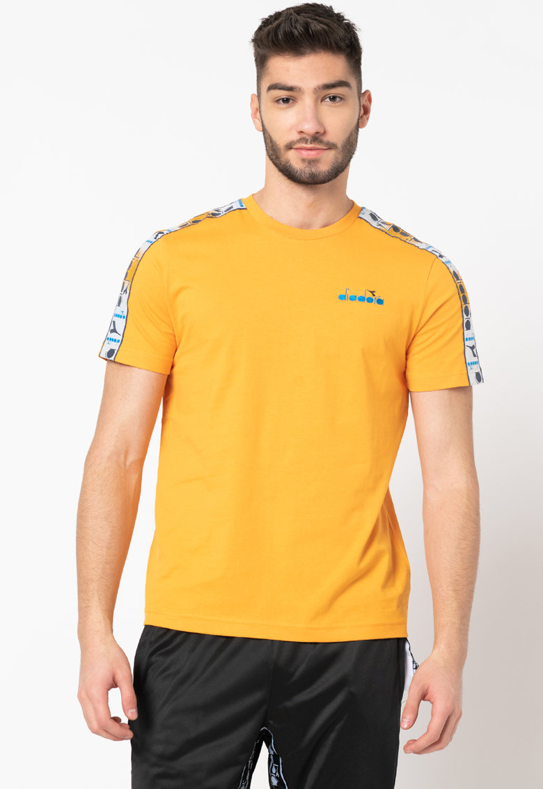 Tricou din bumbac organic cu imprimeu logo Offside Bărbați imagine