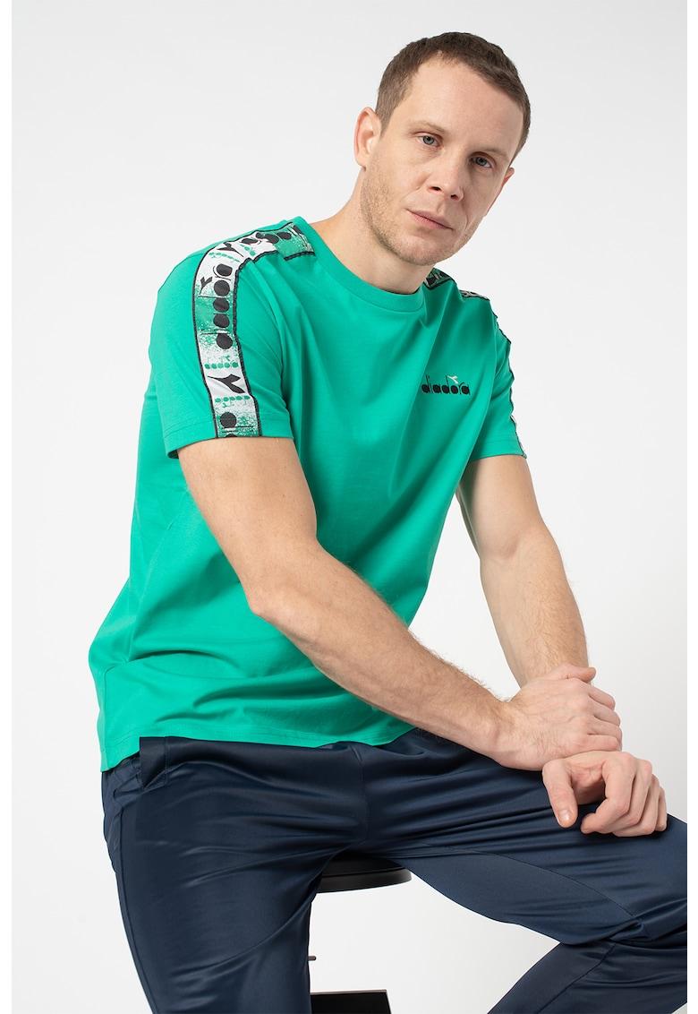 Tricou din bumbac organic cu imprimeu logo Offside imagine fashiondays.ro
