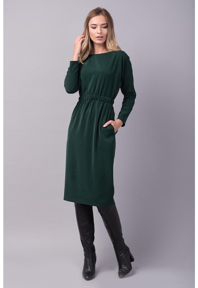 Couture de Marie Rochie midi cu croiala dreapta si talie elastica