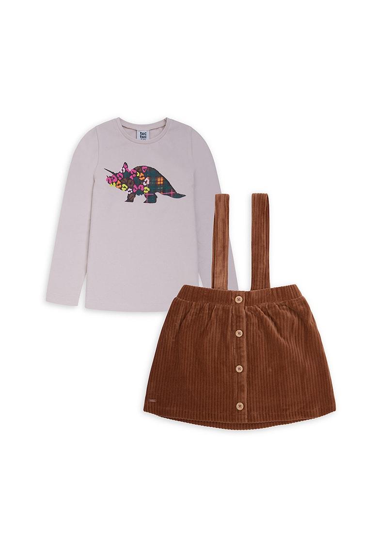 Set de sarafan si bluza din reiat poza fashiondays