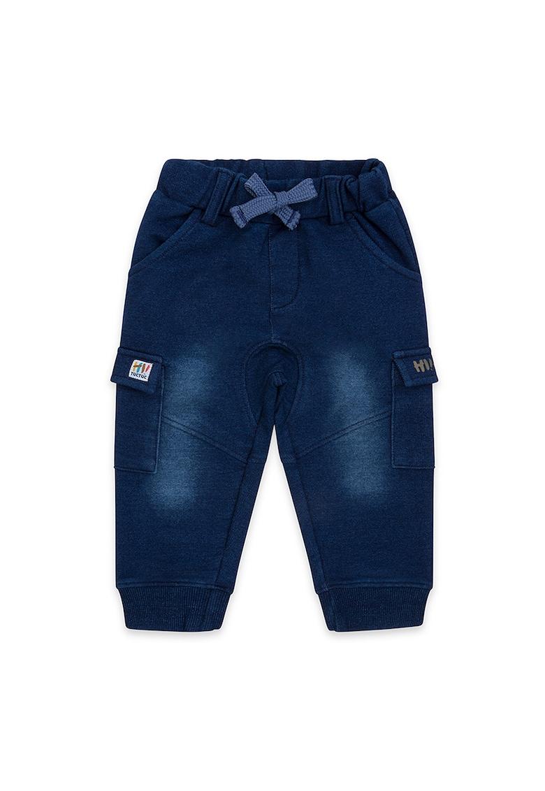 Pantaloni sport cargo cu snur in talie
