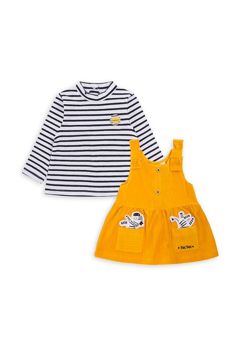 Set de bluza in dungi si sarafan de reiat imagine