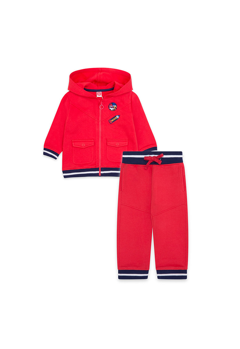 Set de jacheta cu gluga si pantaloni sport imagine fashiondays.ro