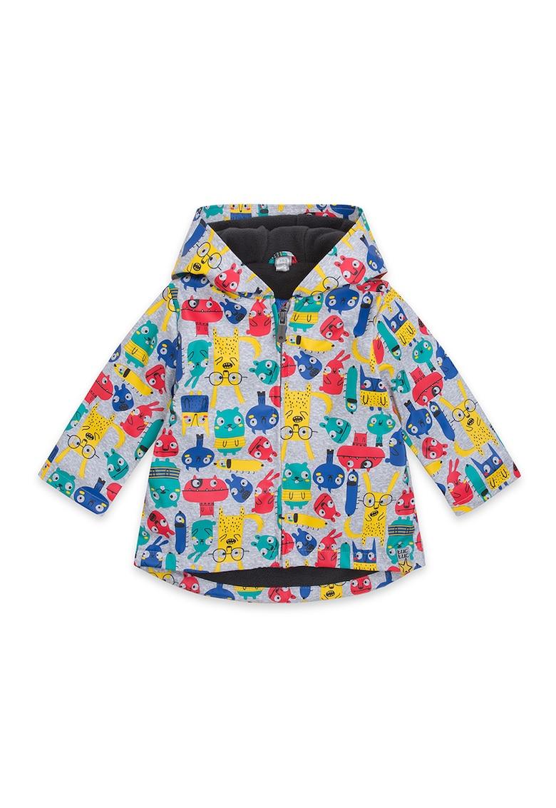 Jacheta cu fermoar si model grafic