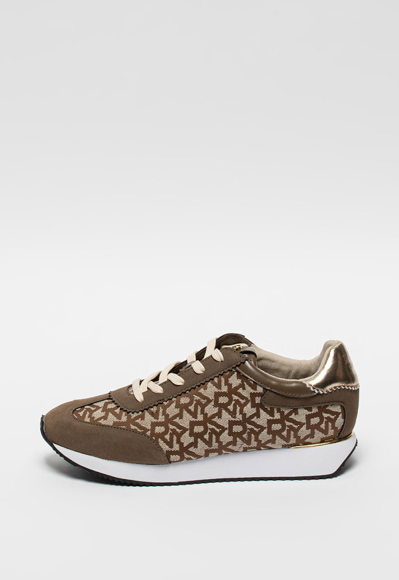 Pantofi sport din piele intoarsa ecologica si model logo Arlie imagine promotie