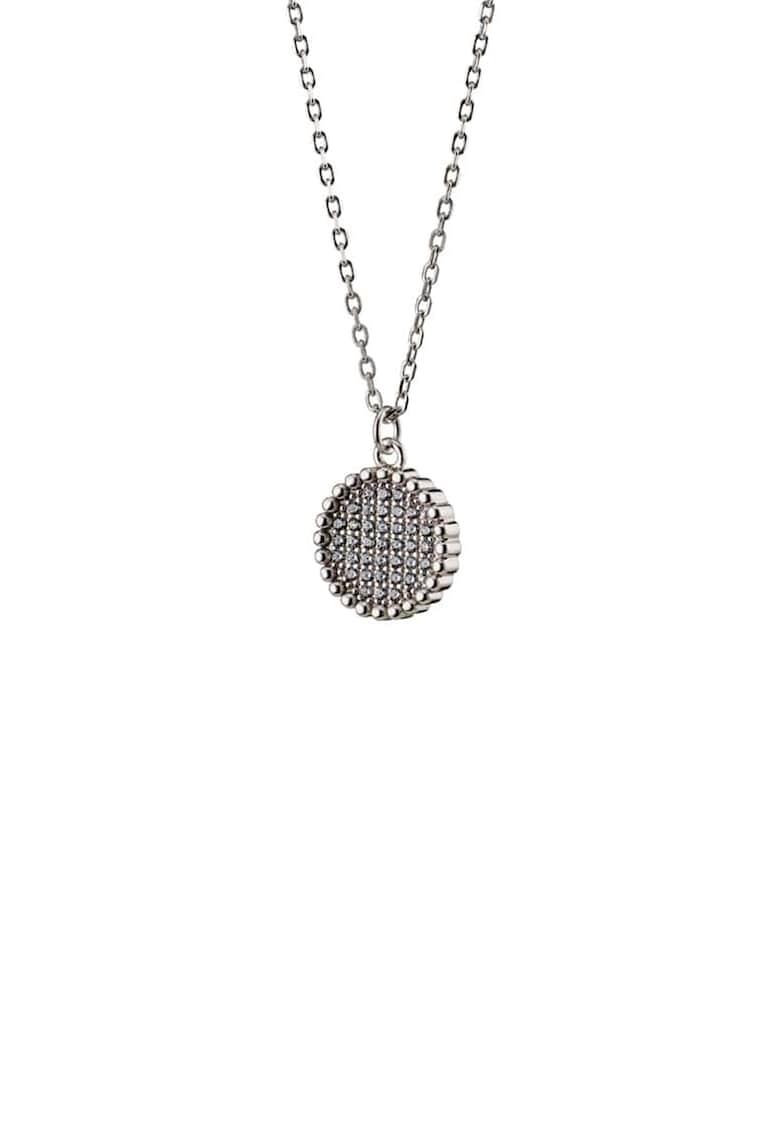 Colier de argint placat cu rodiu - decorat cu cristale de la OXETTE