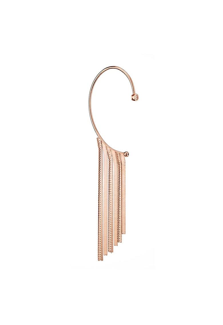 Cercei placati cu aur rose de 18K poza fashiondays