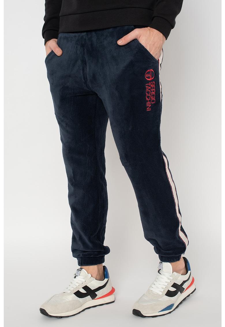 Pantaloni sport din velur cu logo brodat Downey