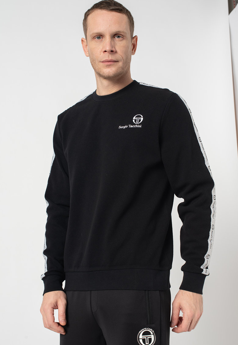 Bluza sport din material pique - cu logo brodat Delman imagine
