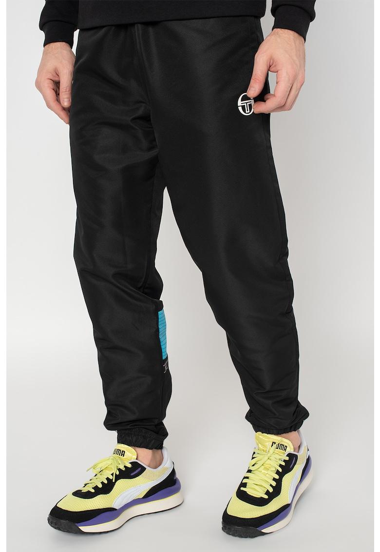 Pantaloni sport cu imprimeu logo Canan