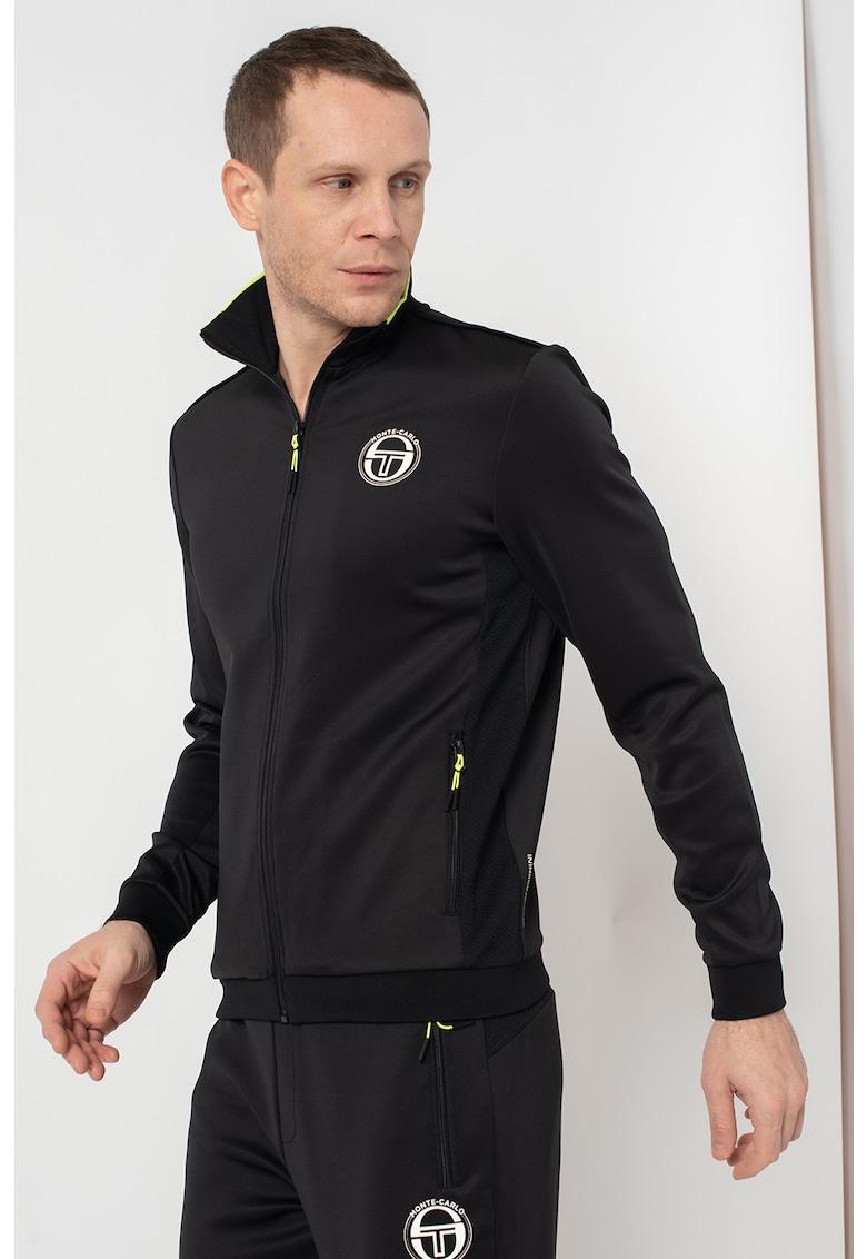 Bluza sport cu fermoar si imprimeu logo New Ionas imagine