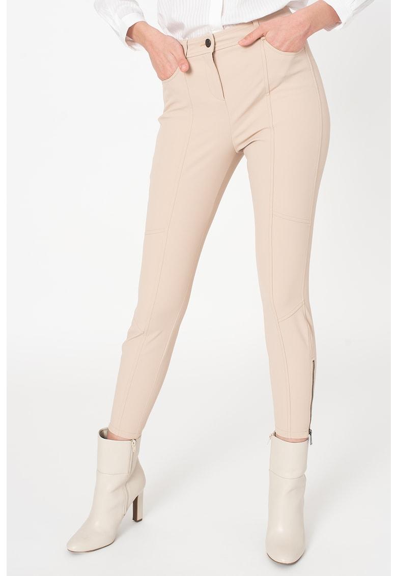 Pantaloni crop cu slituri laterale cu fermoar - pe glezna Altair imagine promotie