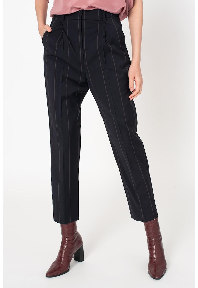 Pantaloni din amestec de lana - conici - cu dungi discrete Certezza