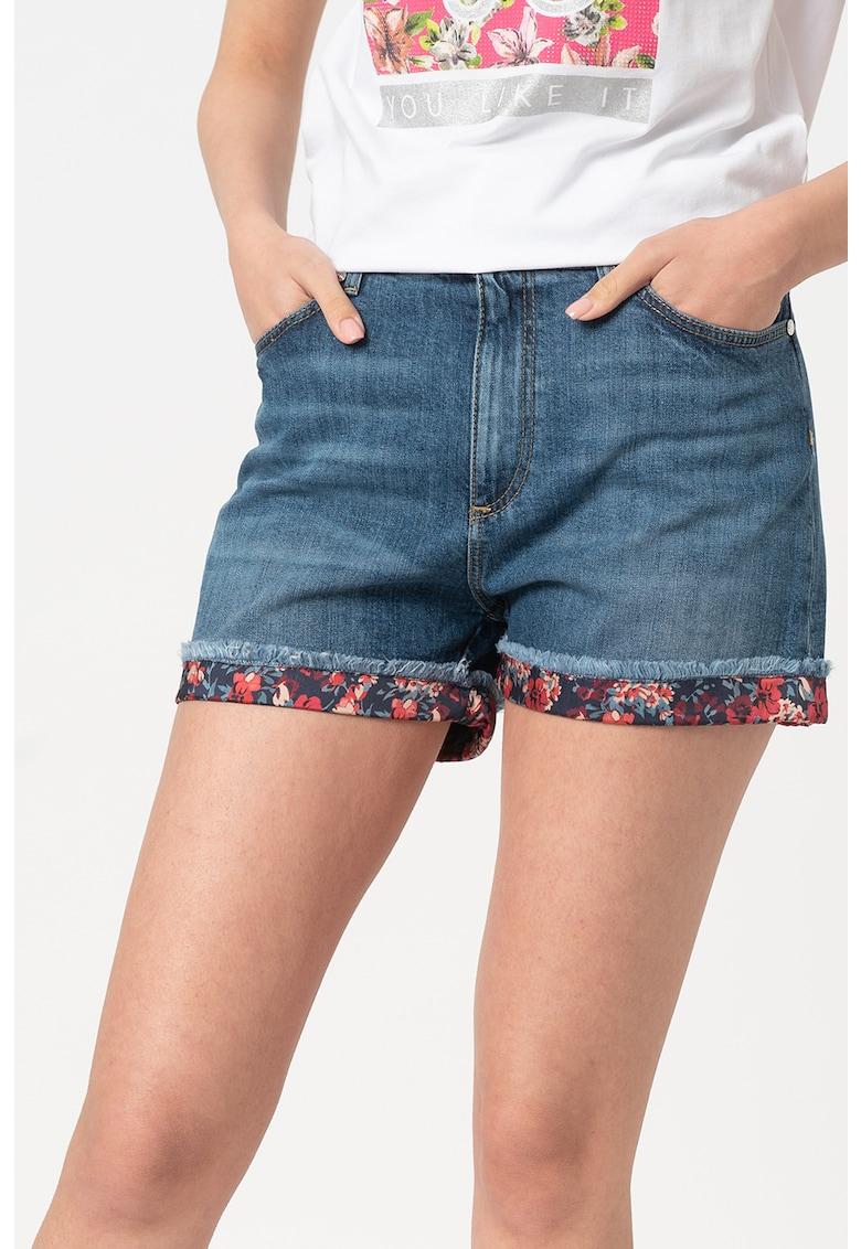 Pantaloni scurti din denim cu detalii imprimate