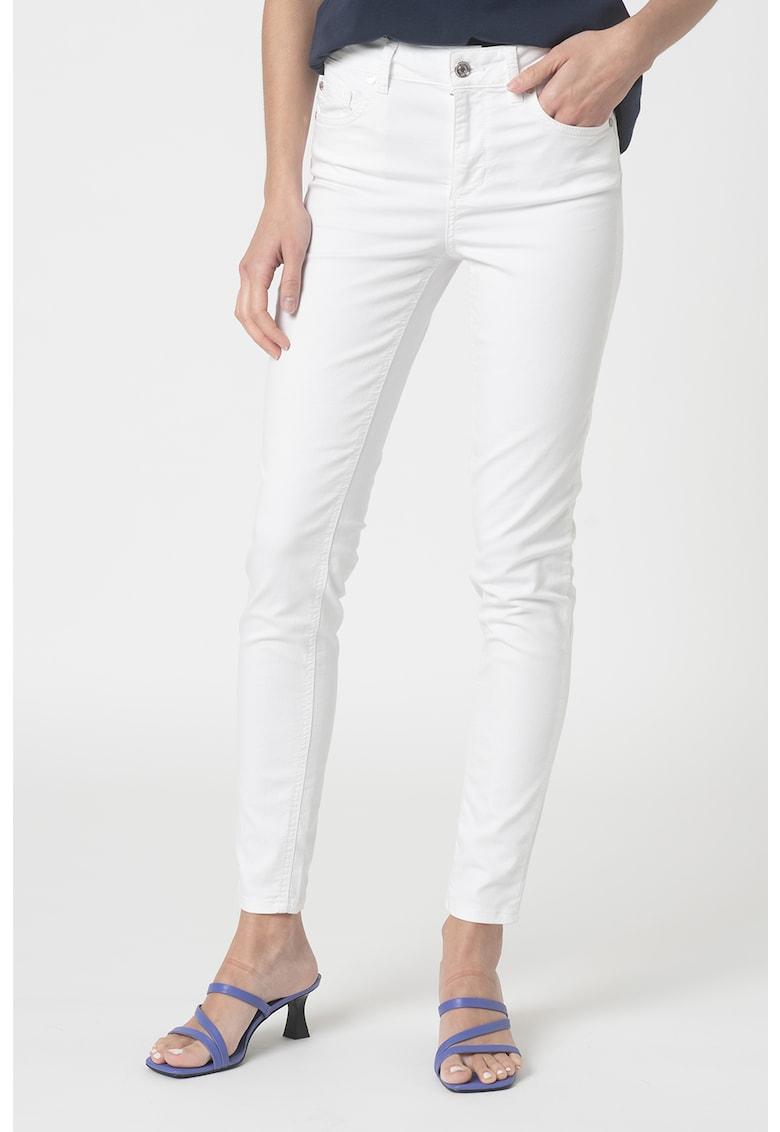 Pantaloni slim fit cu talie inalta