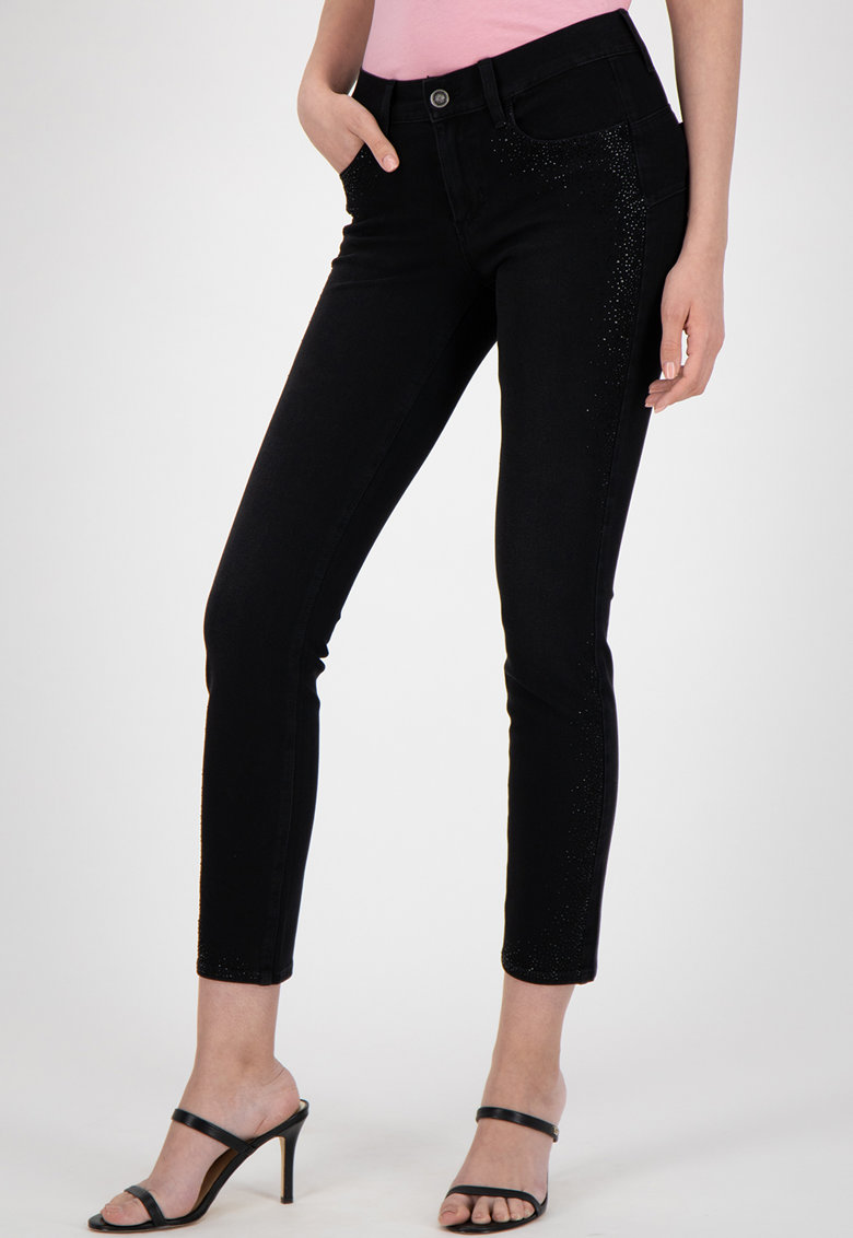 Blugi skinny slim fit crop imagine