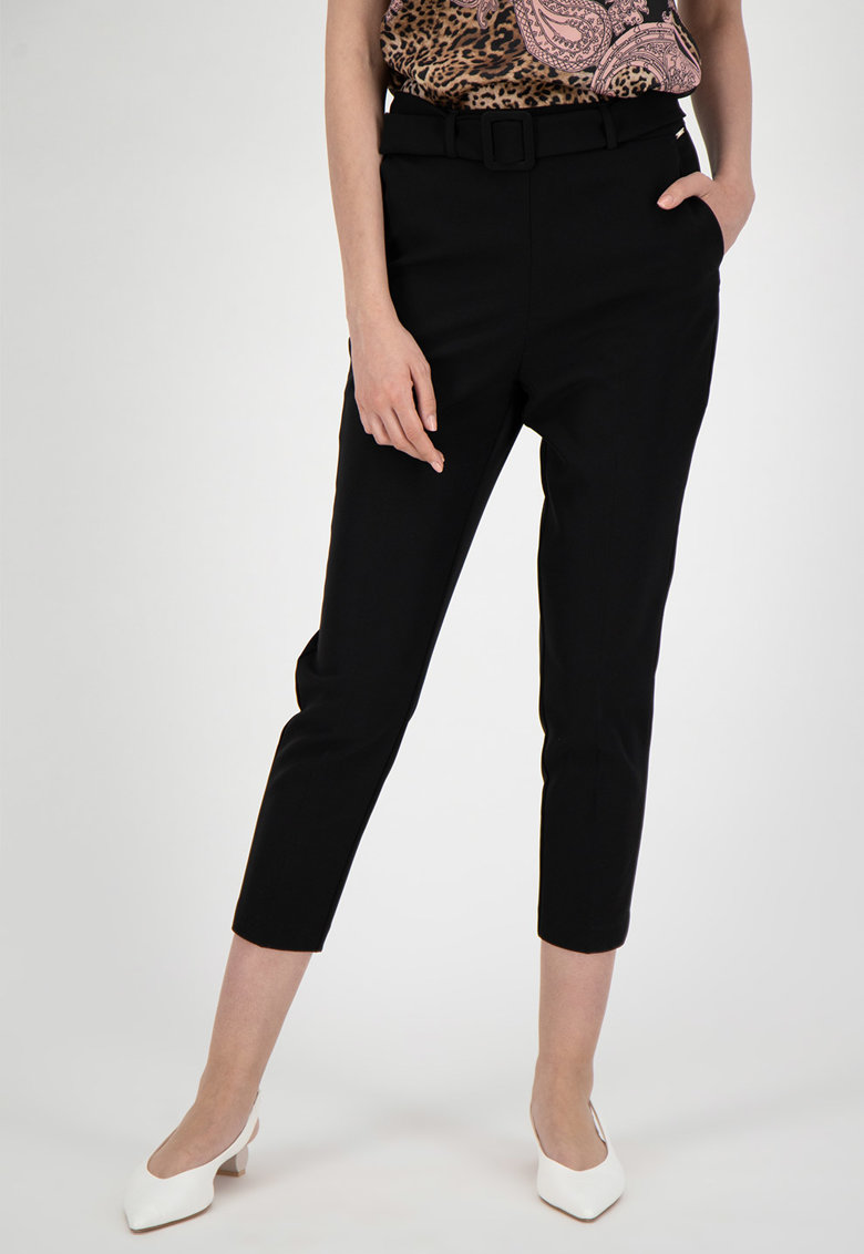 Pantaloni crop cu talie inalta imagine