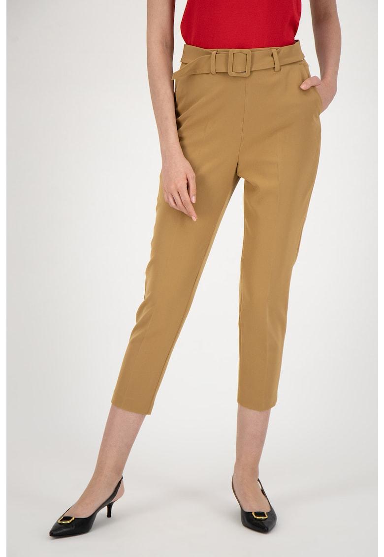Pantaloni crop cu talie inalta