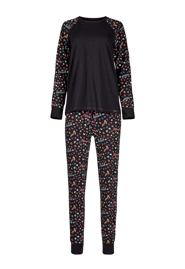 Bluza cu imprimeu si pantaloni de pijama imagine