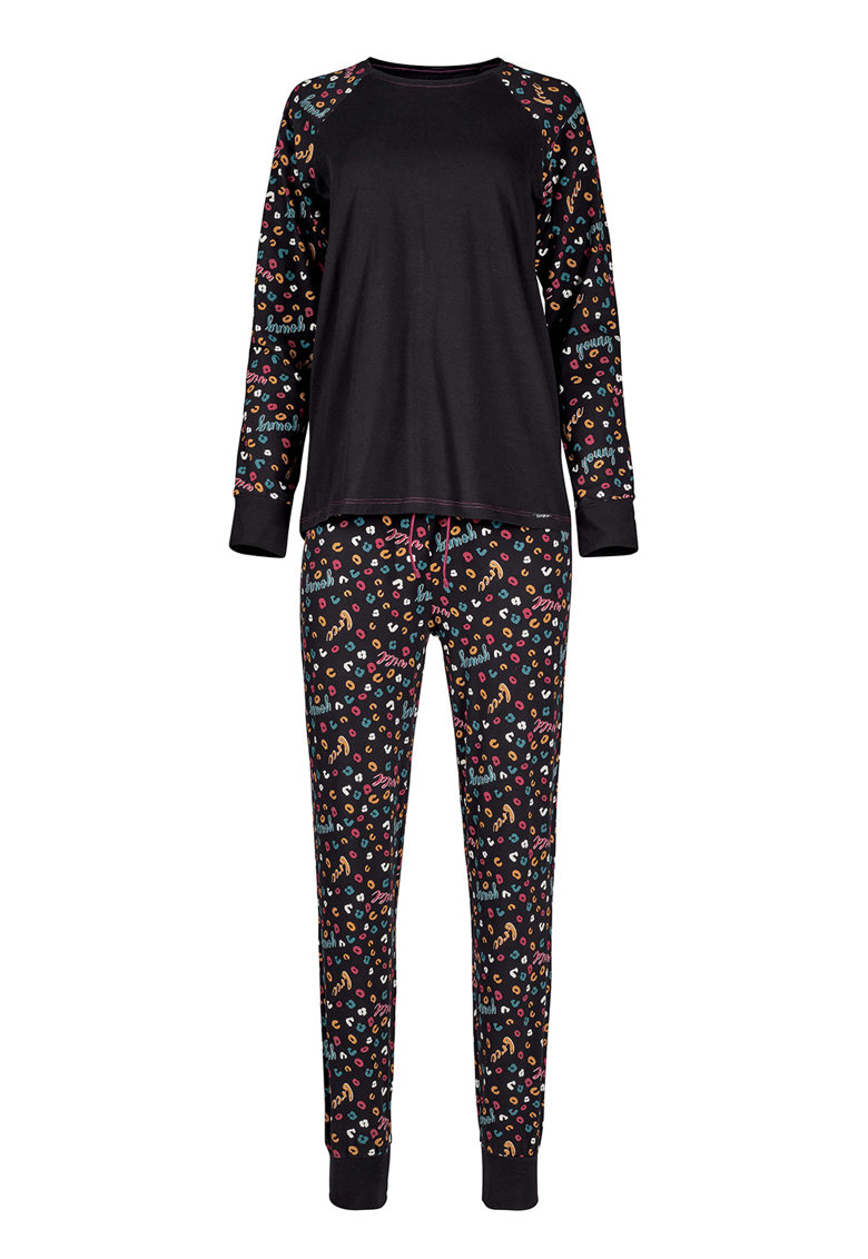 Bluza cu imprimeu si pantaloni de pijama