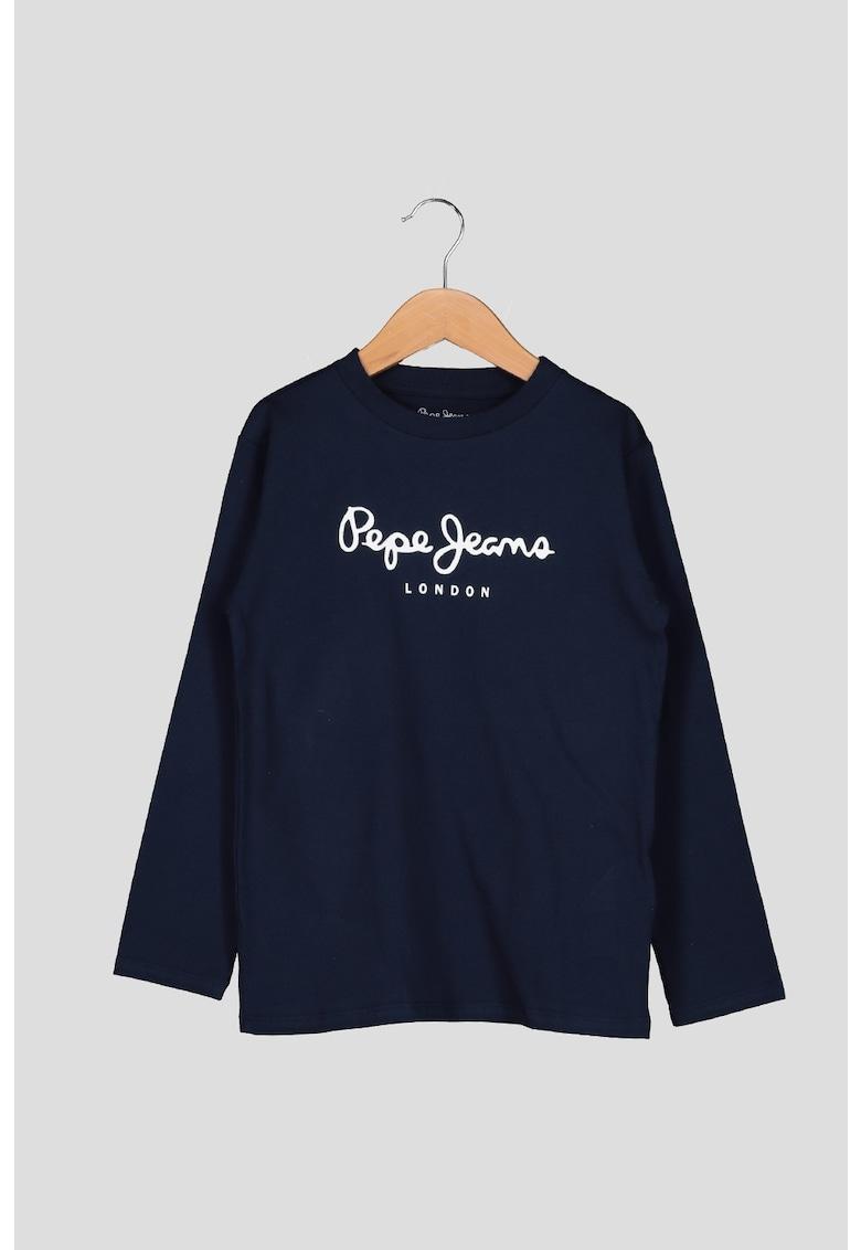 Bluza de bumbac cu imprimeu logo imagine promotie