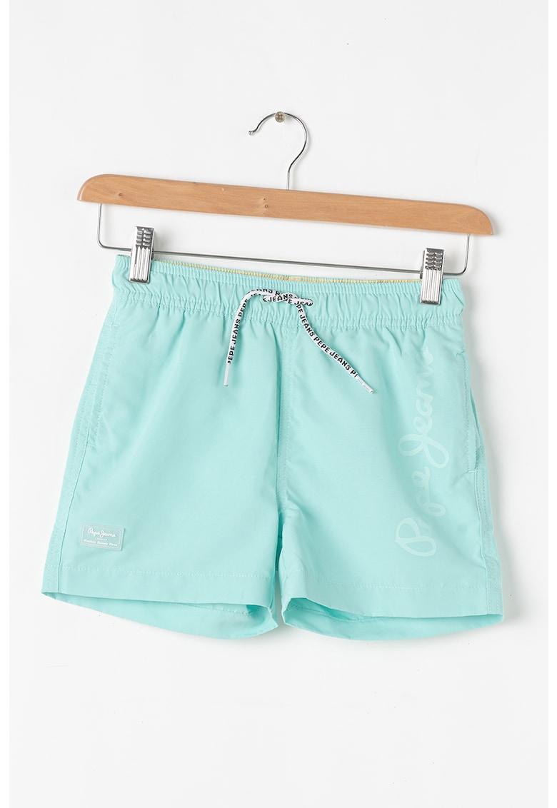Pantaloni scurti de baie cu imprimeu logo Guido