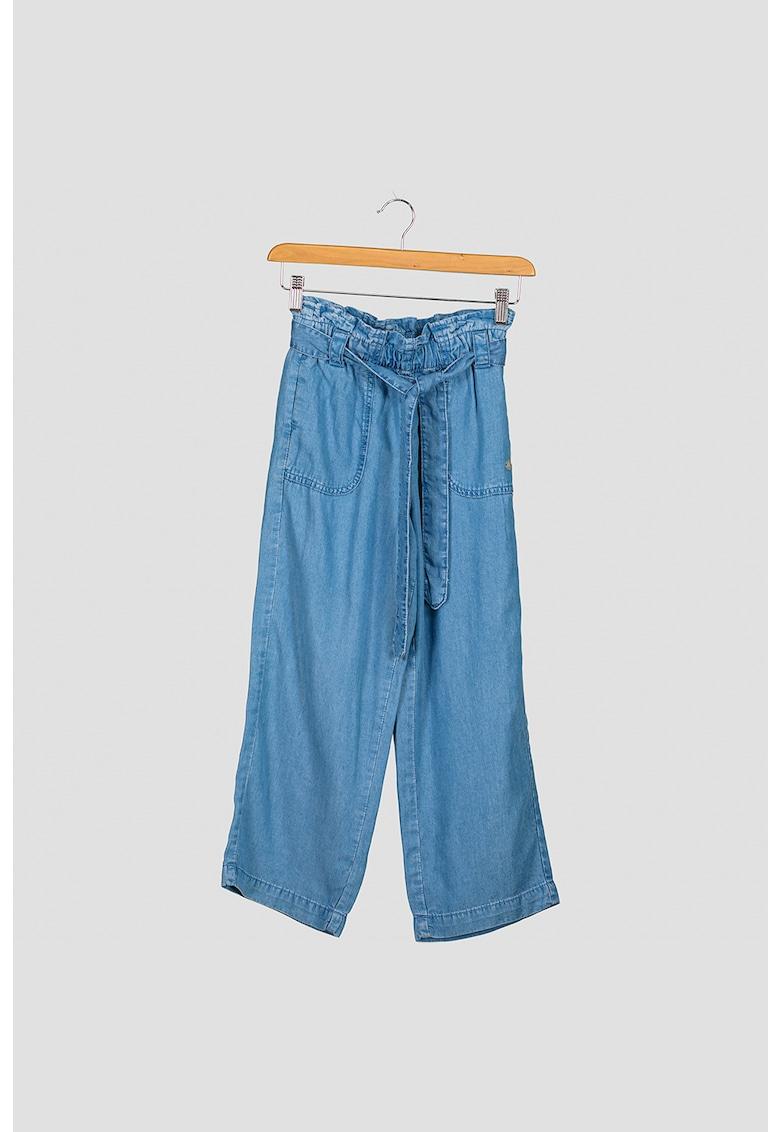 Pepe Jeans London Pantaloni chambray cu croiala ampla Rosalia