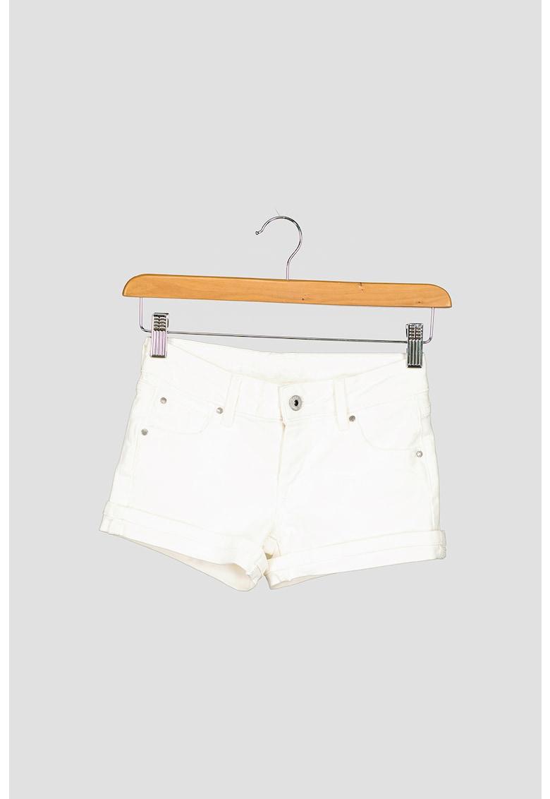 Pantaloni scurti de denim cu gaici pentru curea imagine fashiondays.ro 2021