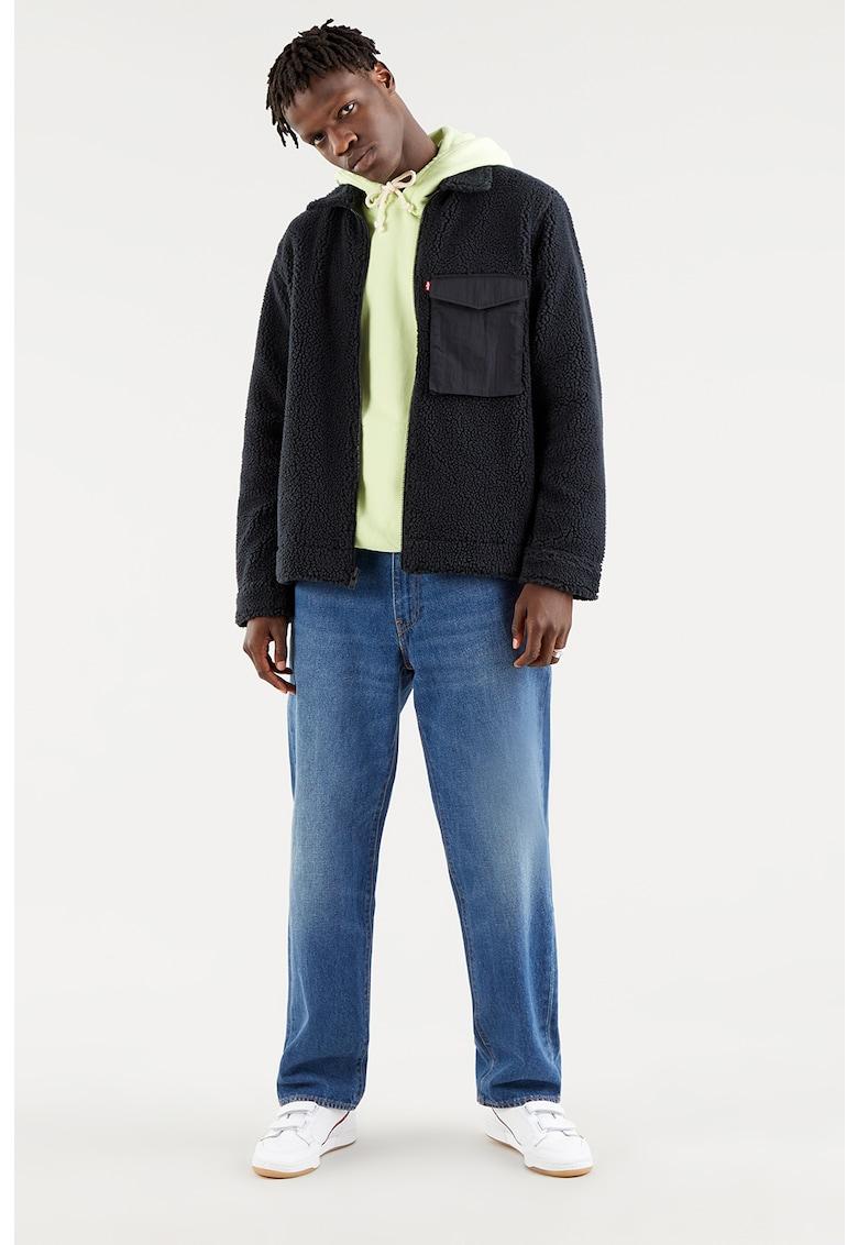 Jacheta din blana shearling sintetica cu buzunar pe piept de la Levis