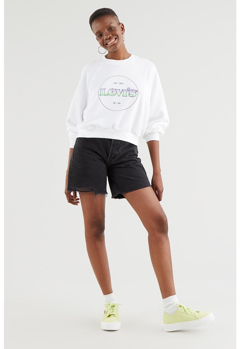 Bluza sport cu maneci raglan si model crop de la Levis