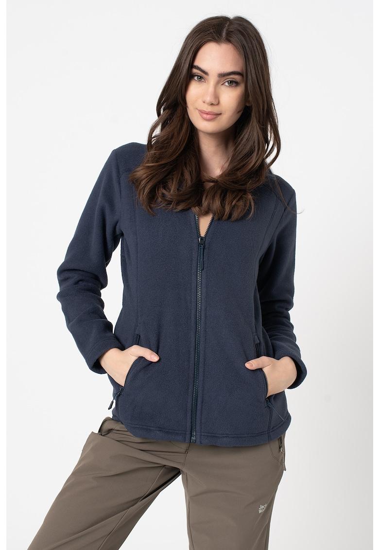 Bluza de fleece cu fermoar - pentru drumetii Midnight Moon de la Jack Wolfskin