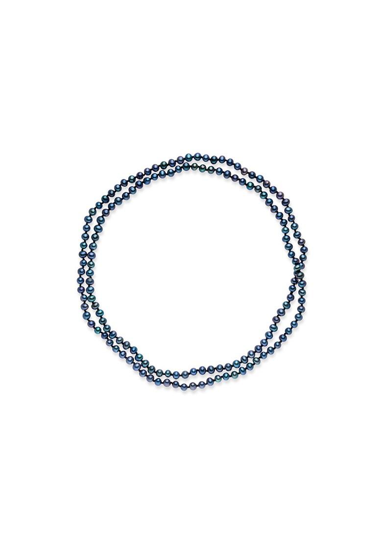 Colier decorat cu perle sintetice