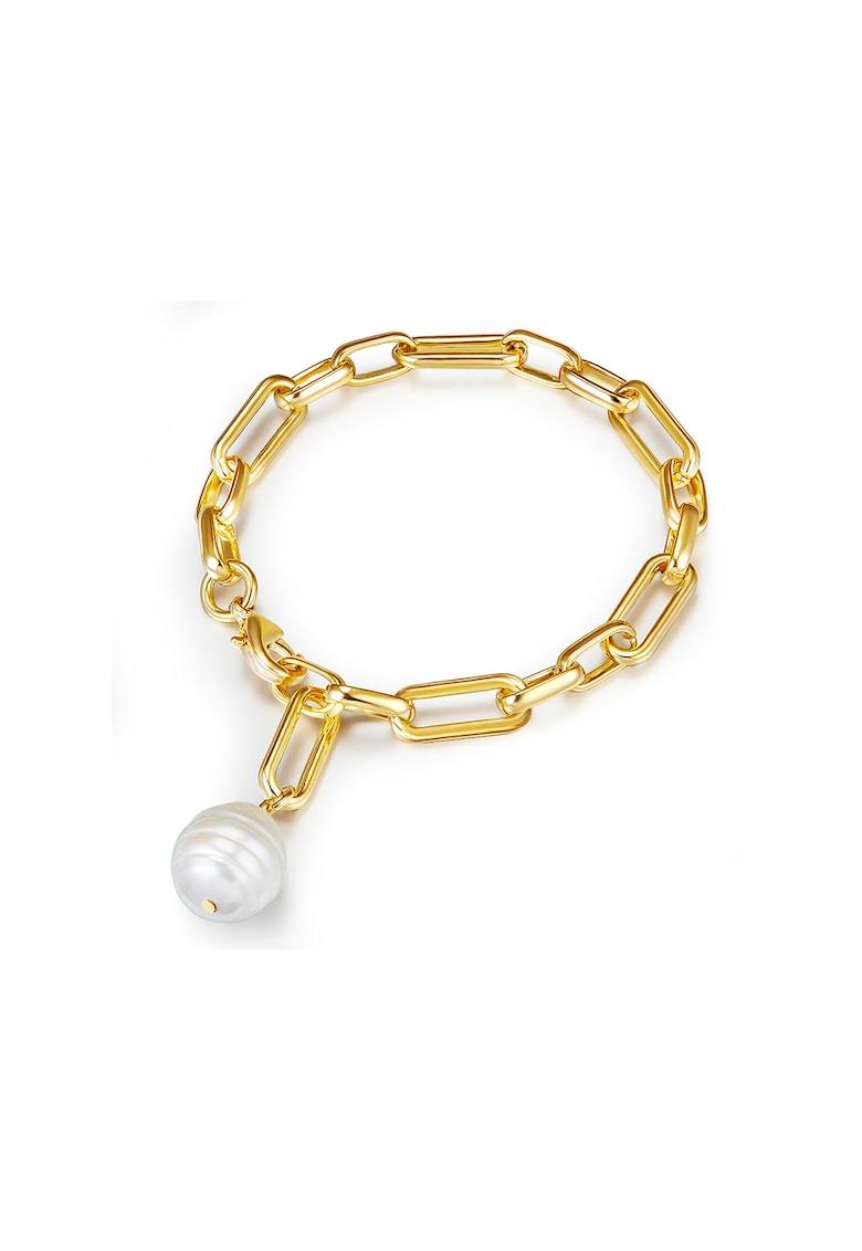 Bratara ajustabila decorata cu perla organica imagine