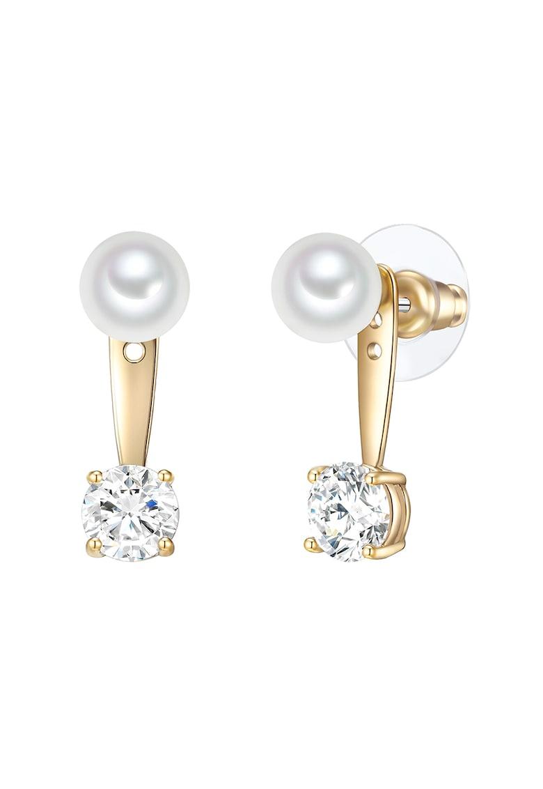 Cercei drop decorati cu cristale si perle organice de la Clara Copenhagen