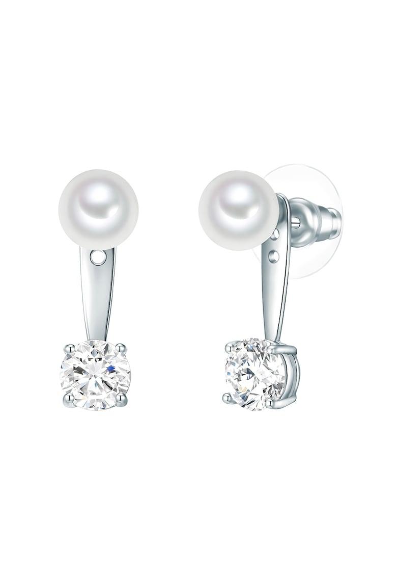 Cercei drop decorati cu cristale si perle organice imagine promotie
