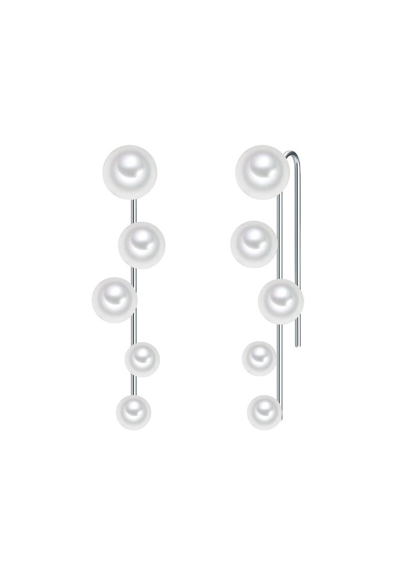 Cercei drop decorati cu perle imagine promotie