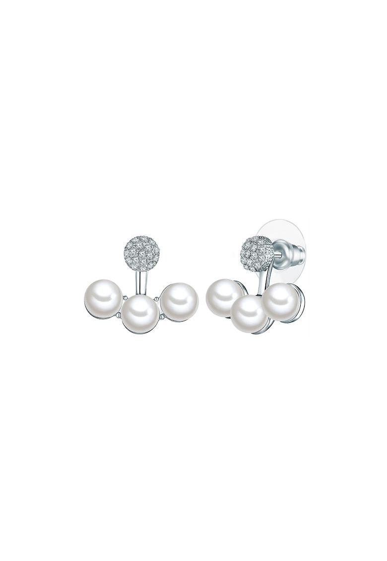 Cercei placati cu argint - cu tija si perle organice imagine promotie