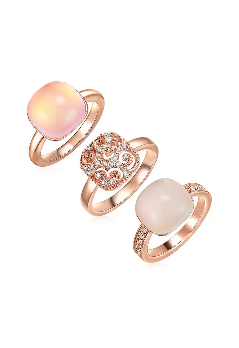 Set de inele decorate cu cristale Swarovski®