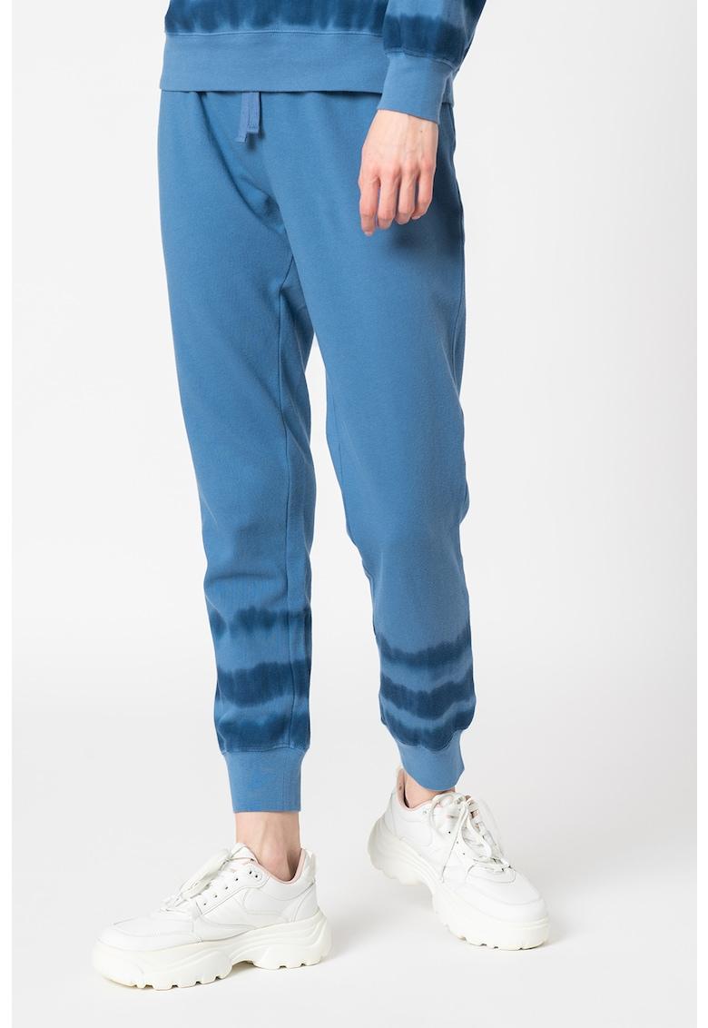 Pantaloni sport cu detalii cu model tie-dye imagine promotie