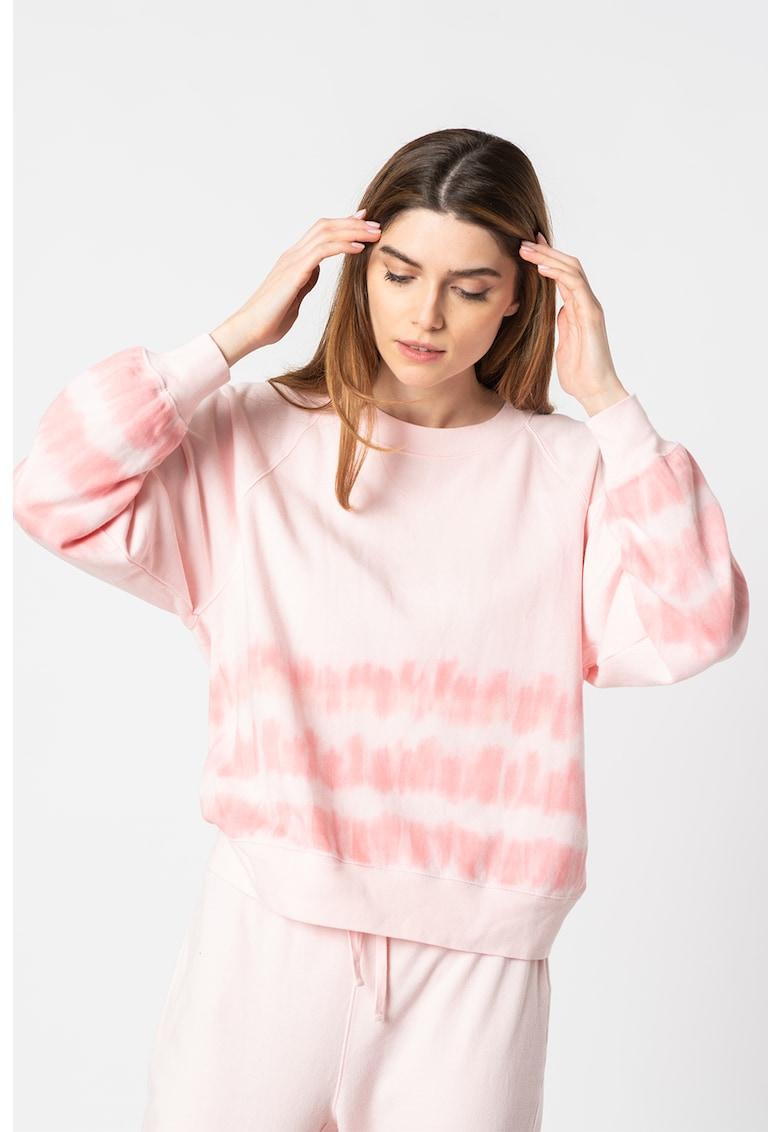 Bluza sport lejera cu dungi cu model tie-dye imagine promotie