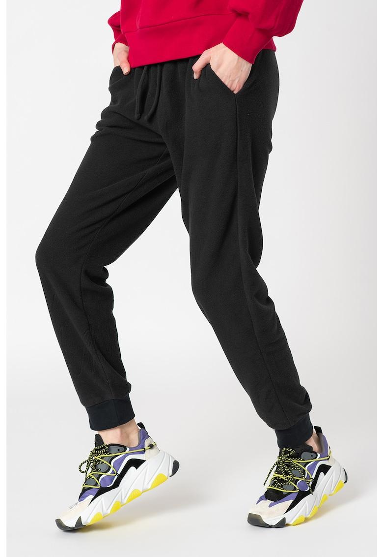 Pantaloni sport din fleece cu snur pentru ajustare imagine promotie