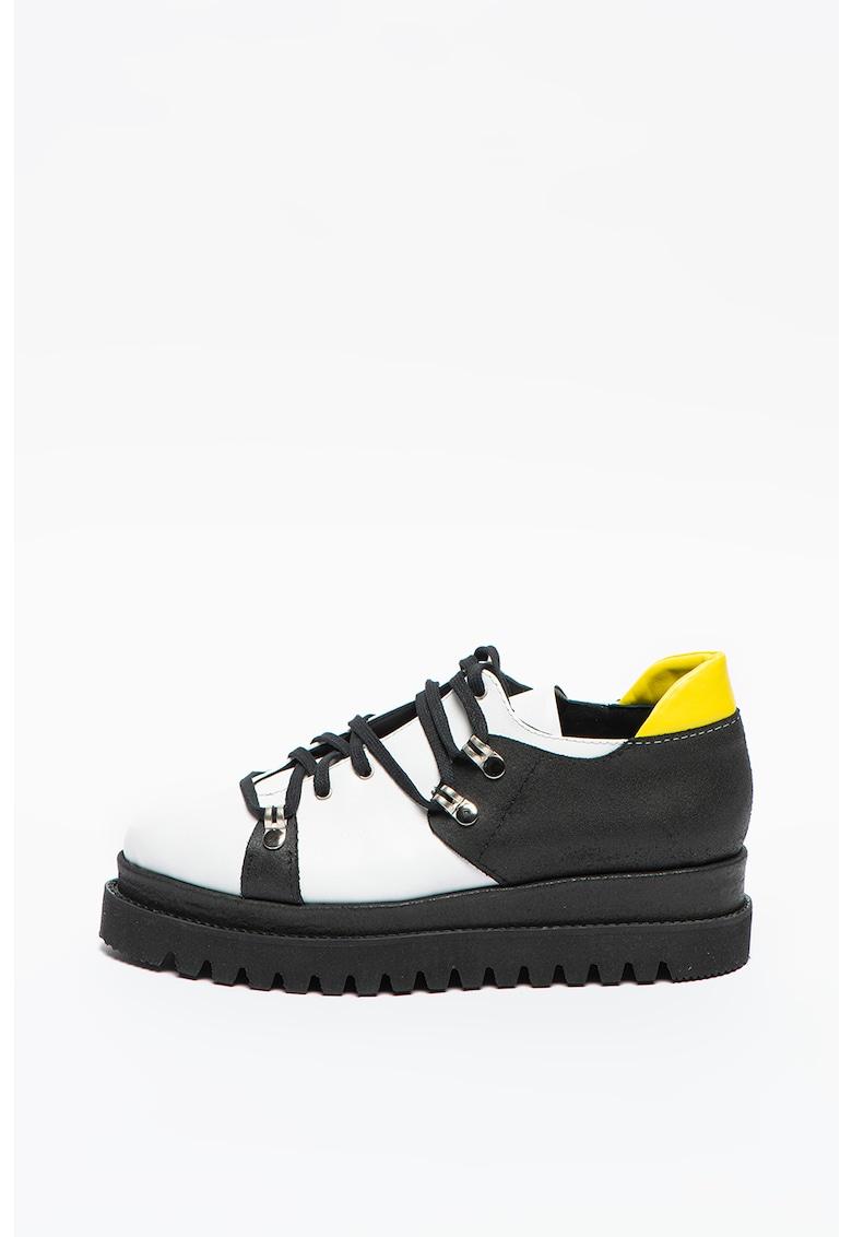 Pantofi wedge de piele
