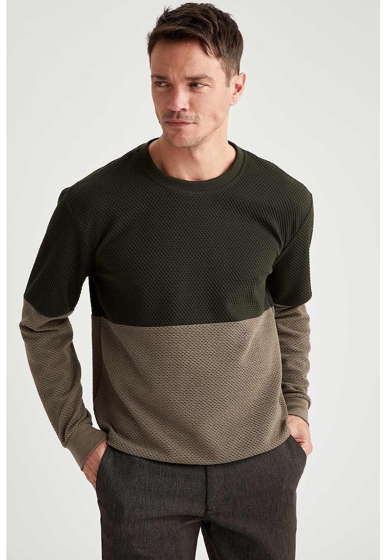Bluza sport cu aspect colorblock