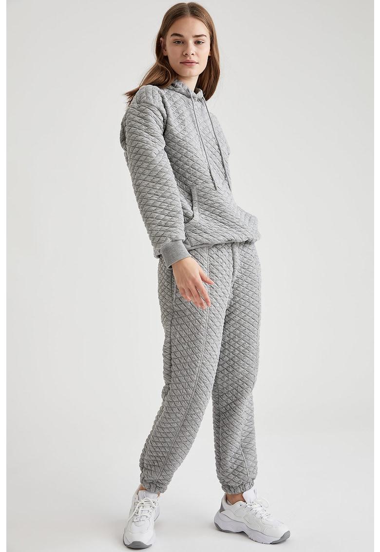 Pantaloni sport cu aspect texturat imagine