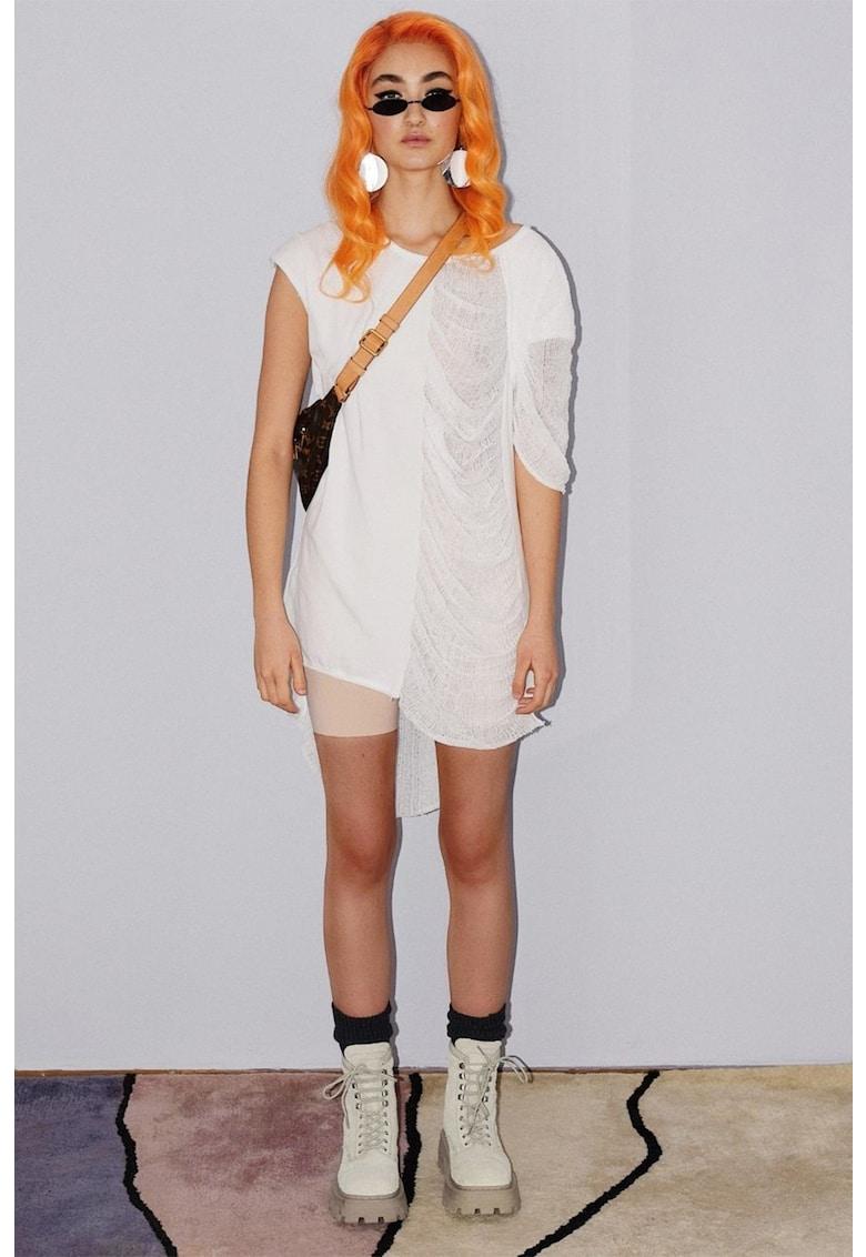 Rochie mini cu model asimetric imagine fashiondays.ro MANURÍ