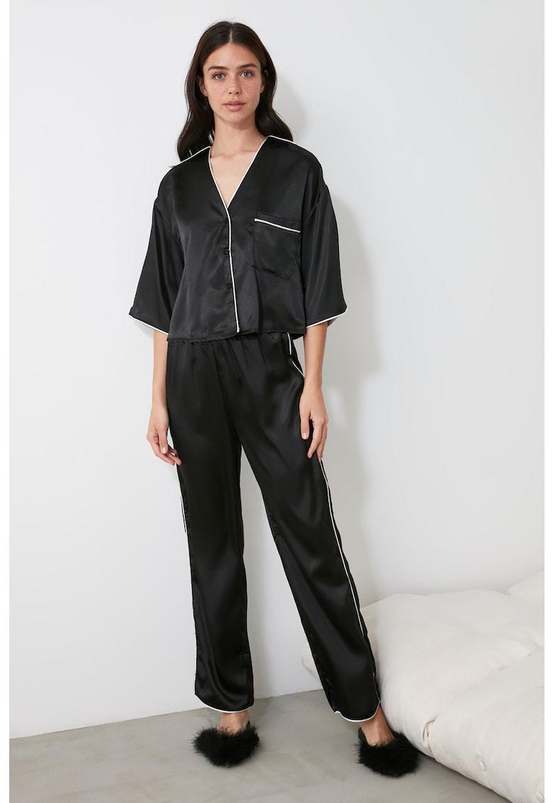 Pijama cu aspect satinat imagine