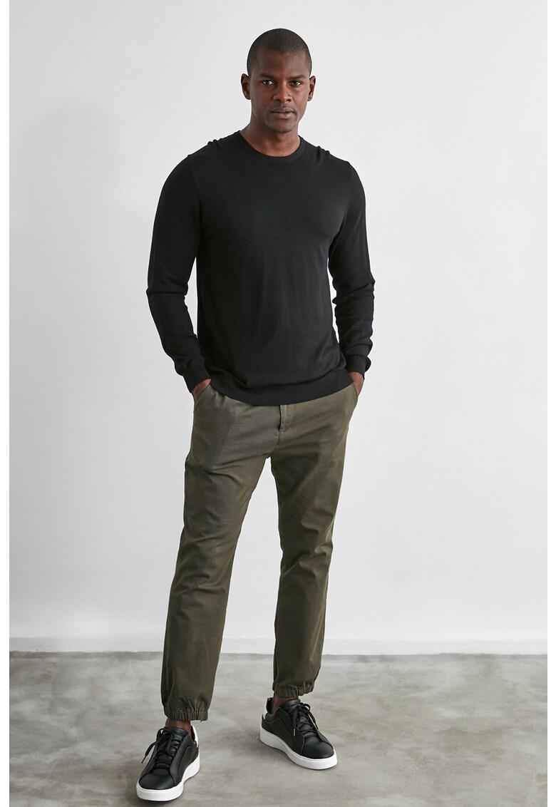 Pantaloni cu talie elastica